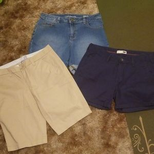 3 pairs of size six shorts.